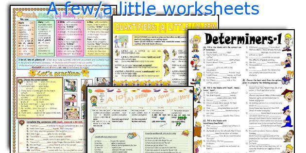 A few/a little worksheets