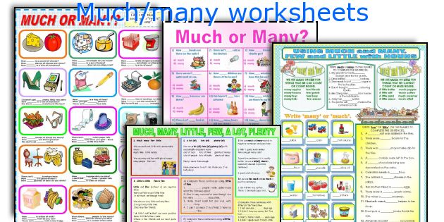 Much/many worksheets