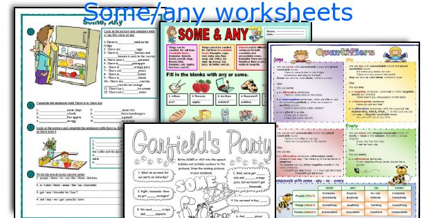 Some/any worksheets