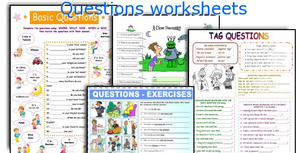 Questions worksheets