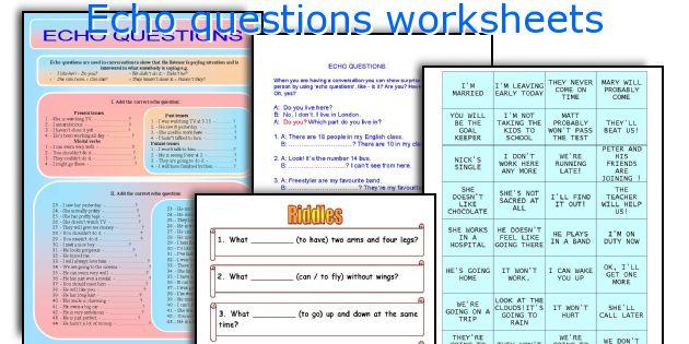 Echo questions worksheets