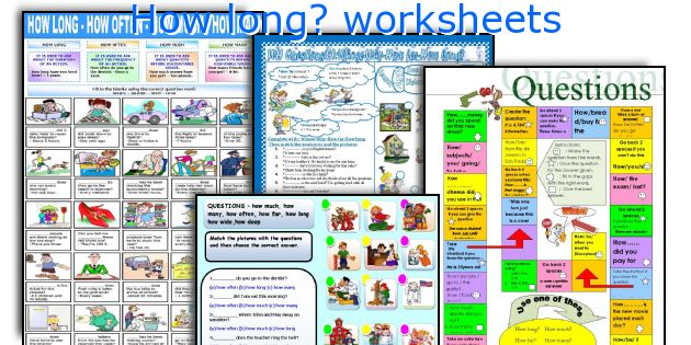 How long? worksheets
