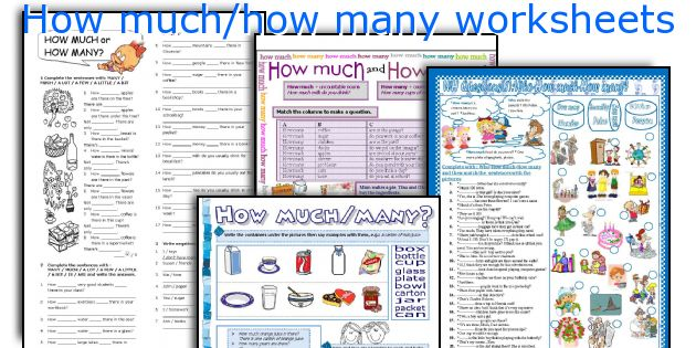 How much/how many worksheets