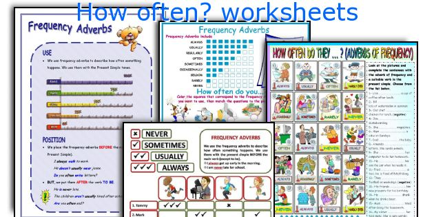 How often? worksheets