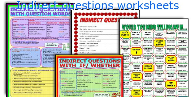 Indirect questions worksheets