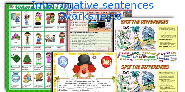 Interrogative sentences worksheets