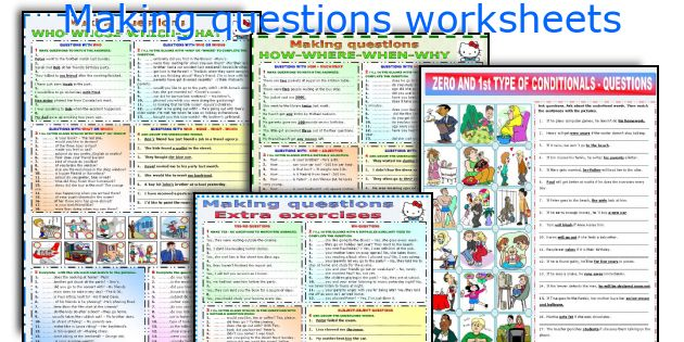 Making questions worksheets