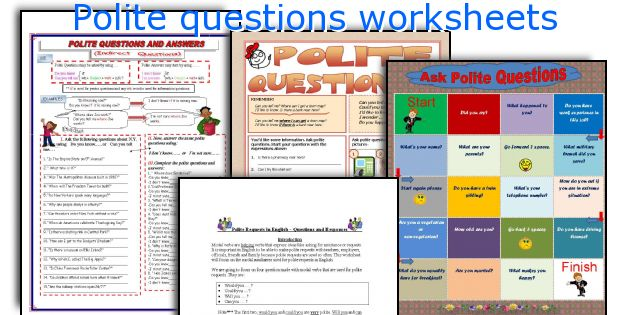Polite questions worksheets