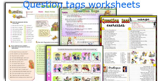 Question Tags Worksheets. Worksheet. Tag Questions Worksheet At Mspartners.co