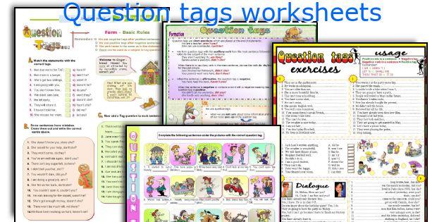 Question Tags Worksheets. Worksheet. Tag Questions Worksheet At Clickcart.co