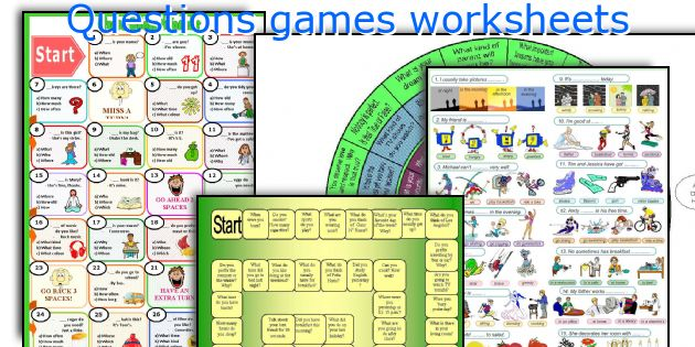 Questions games worksheets