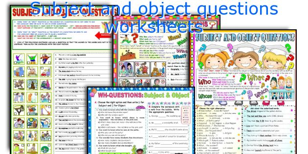 Subject and object questions worksheets
