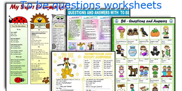 To be questions worksheets