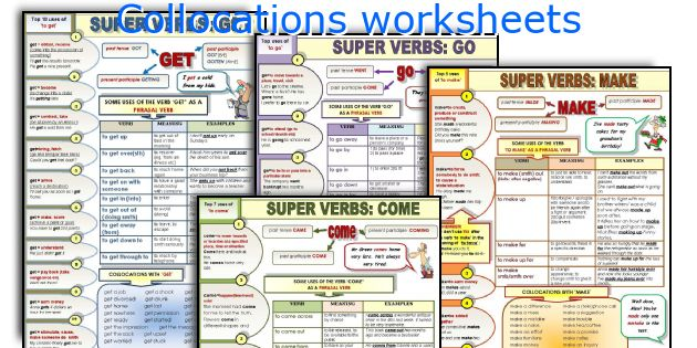 Collocations worksheets