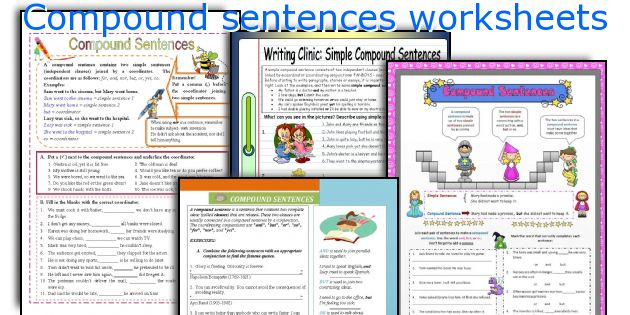 English teaching worksheets: Compound sentences