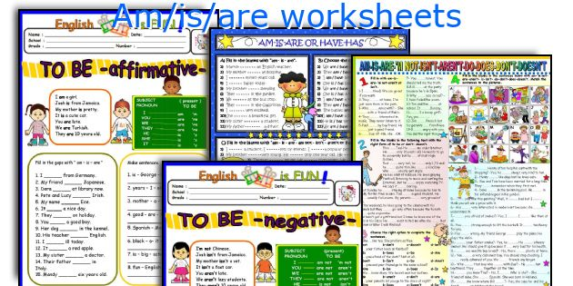 Am/is/are worksheets