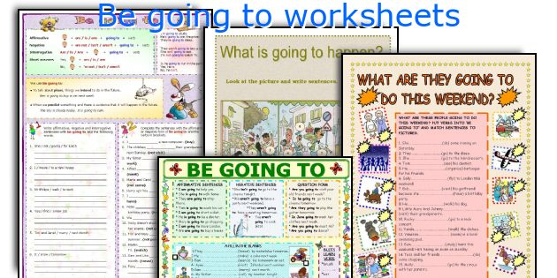 Be going to worksheets