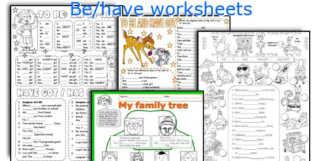 Be/have worksheets