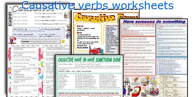 Causative verbs worksheets