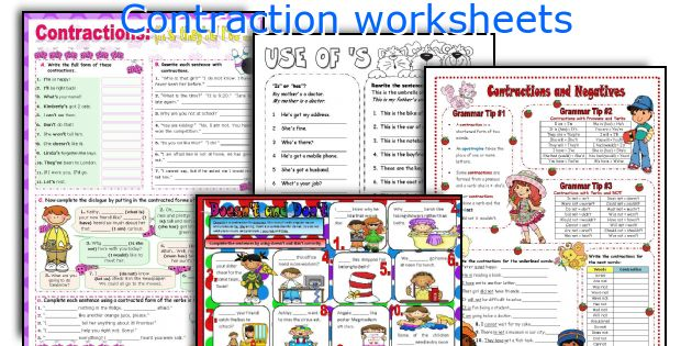 English teaching worksheets Contraction – Contraction Worksheets 2nd Grade