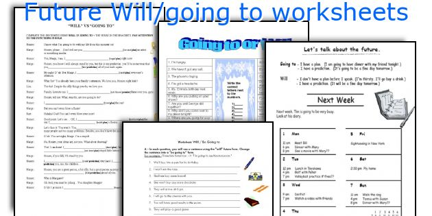 Future Will/going to worksheets