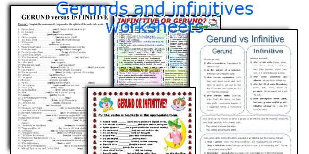 Gerunds and infinitives worksheets