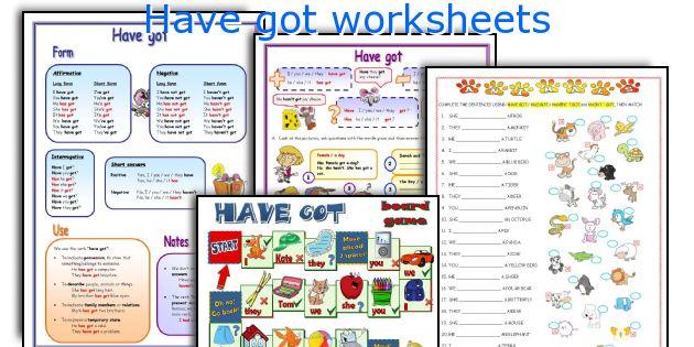 Have got worksheets