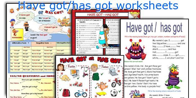 Have got/has got worksheets