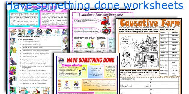 Have something done worksheets