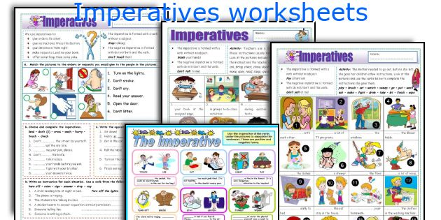 Imperatives worksheets