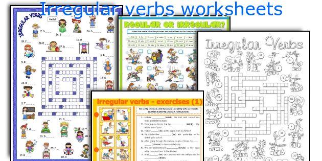 Irregular verbs worksheets