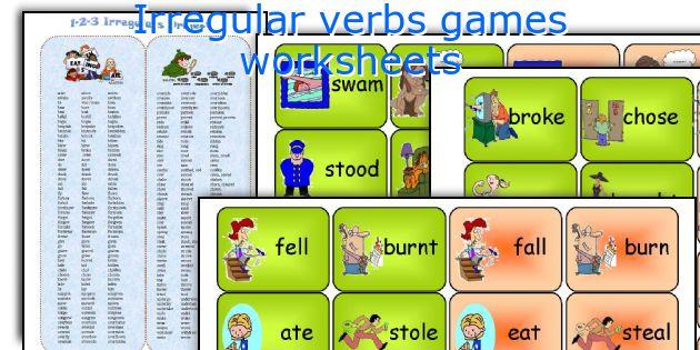 Irregular verbs games worksheets