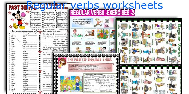 Regular verbs worksheets