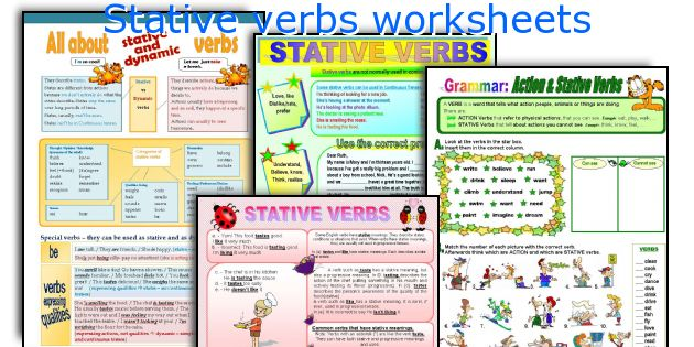 Stative verbs worksheets