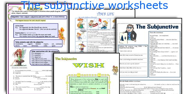 English teaching worksheets: The subjunctive