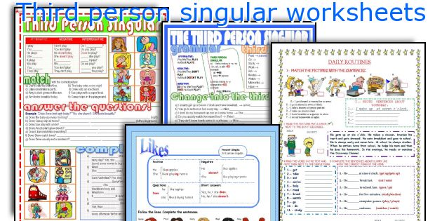 Third person singular worksheets