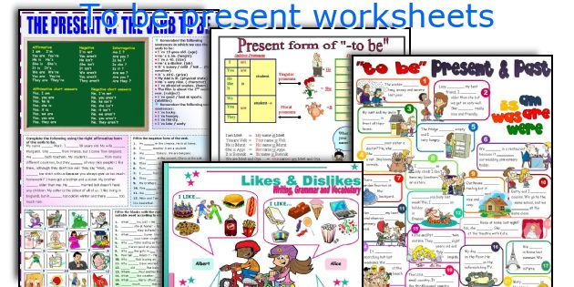 To be present worksheets