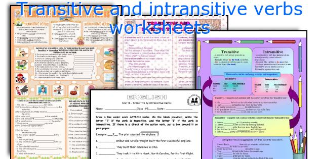 English teaching worksheets Transitive and intransitive verbs – Transitive and Intransitive Verbs Worksheet