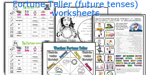 fortune teller future tenses worksheets. Black Bedroom Furniture Sets. Home Design Ideas