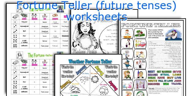 fortune teller future tenses worksheets. Black Bedroom Furniture Sets. Home Design Ideas