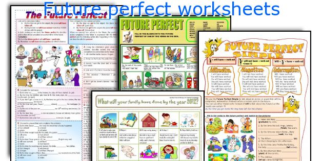Future perfect worksheets