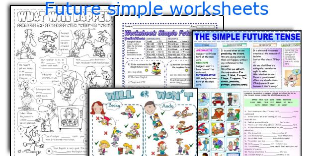 Future simple worksheets