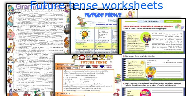 English teaching worksheets Future tense – Future Tense Worksheets