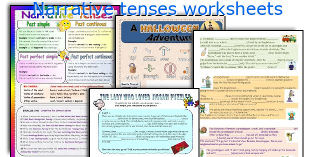 Narrative tenses worksheets