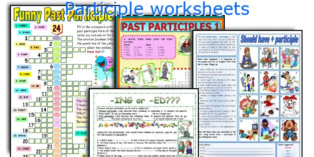 English teaching worksheets Participle – Participle Worksheets
