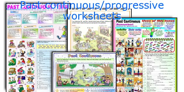 Past continuous/progressive worksheets