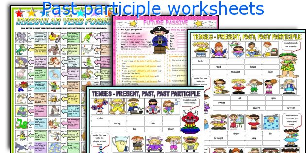 English teaching worksheets Past participle – Participle Worksheets