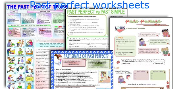 Past perfect worksheets