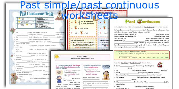 Past simple/past continuous worksheets