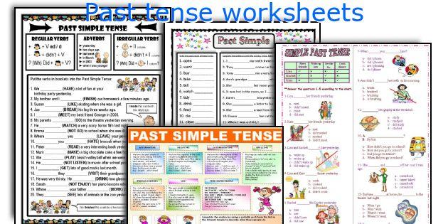 Past tense worksheets